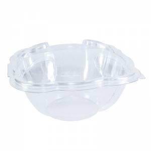 ensaladera de plástico con cierre de bisagra de 500cc para ensaladas