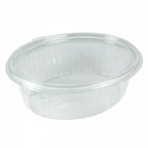 envase de plástico desechable ovalado con cierre de bisagra de 1000cc