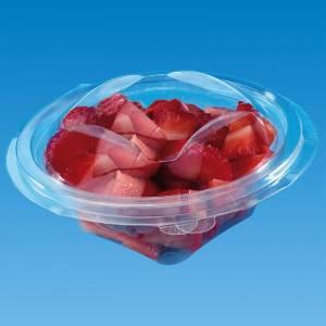 ensaladera de apet transparente con cierre de bisagra de 600cc