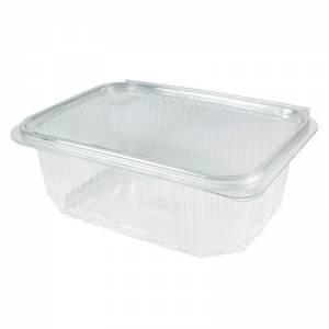 envase de plástico rectangular con cierre de bisagra de 1000cc