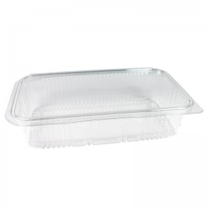 envase de plástico con cierre de bisagra para loncheados de 1000cc