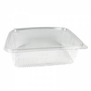 envase de plástico con cierre de bisagra para loncheados de 1900cc