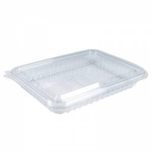 envase de plástico con cierre bisagra para alimentos loncheados