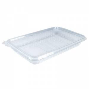 envase plástico con cierre bisagra para embutido