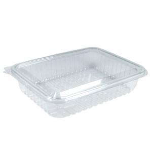 envase de plástico con cierre de bisagra para loncheados