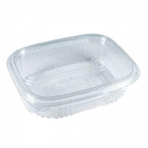 envase de plástico con cierre de bisagra de 375cc para uso frío
