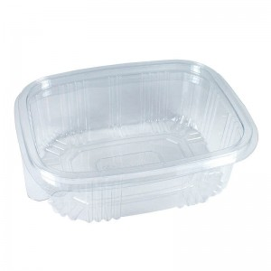 envase de plástico con cierre de bisagra de 500cc para alimentos frios