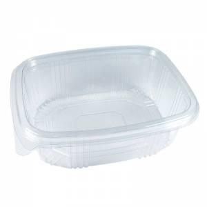 envase de plástico desechable con cierre de bisagra de 1000cc para alimentos frios