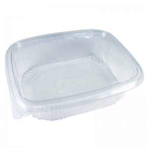 envase de plástico con cierre de bisagra de 1500cc para alimentos fríos