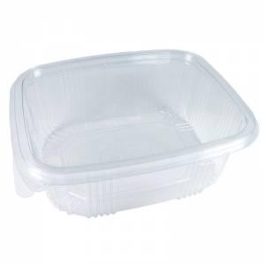 envase de plástico con cierre de bisagra de 2000cc para alimentos fríos