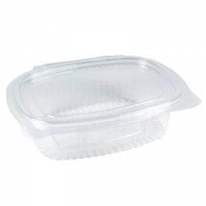 envase de plástico de 250cc ovalado con cierre de bisagra de ops