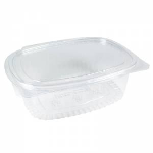 envase de plástico de 1000cc ovalado con cierre de bisagra de ops