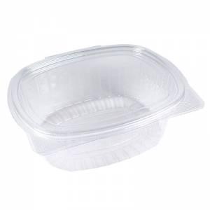 tarrina de plástico con cierre de bisagra ovalado de ops de 750cc