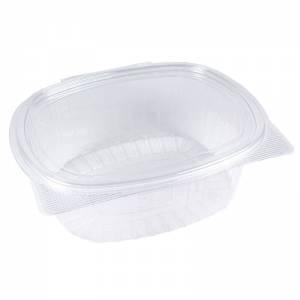 tarrina de plástico con cierre de bisagra ovalado de ops de 1000cc