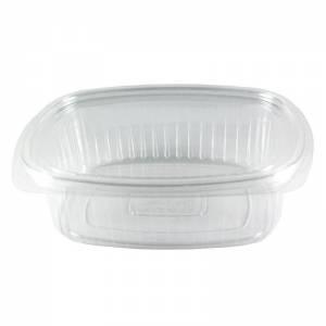 envase de plástico con cierre de bisagra de ops ovalado de 500cc
