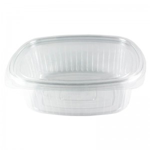 envase de plástico con cierre de bisagra de ops ovalado de 1500cc