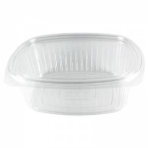 envase de plástico con cierre de bisagra de ops ovalado de 2000cc