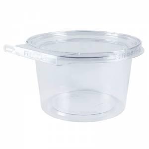 envase de plástico con cierre de seguridad redondo de 500cc