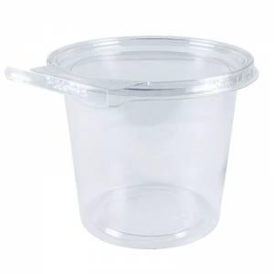 envase de plástico con cierre de seguridad redondo de 750cc