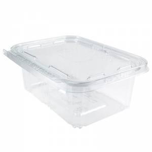 envase cuadrado de pet transparente con cierre de seguridad de 1000cc