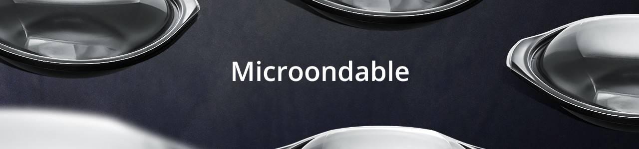 Envases para Microondas de polipropileno (entre -20ºC y 120ºC aprox).