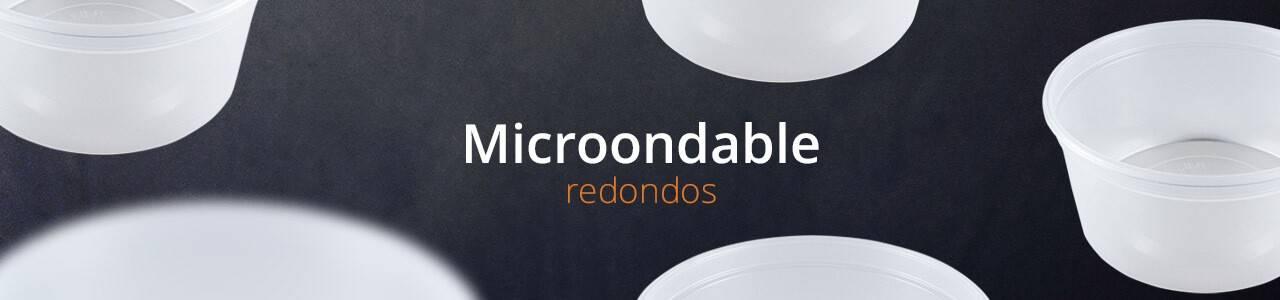Envases reutilizables para Microondas redondos de Polipropileno transparente.