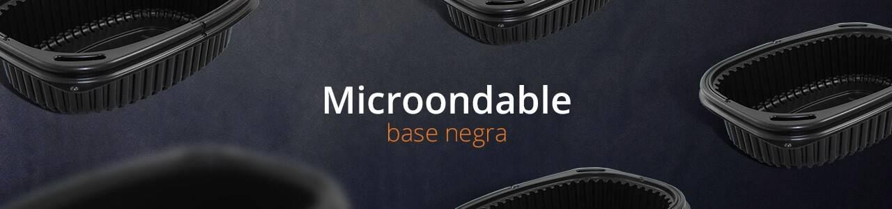 Envases para Microondas con Base Negra | Envases comida para llevar