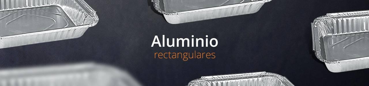 Envases Desechables de Aluminio Rectangulares aptos para el sector alimentario.