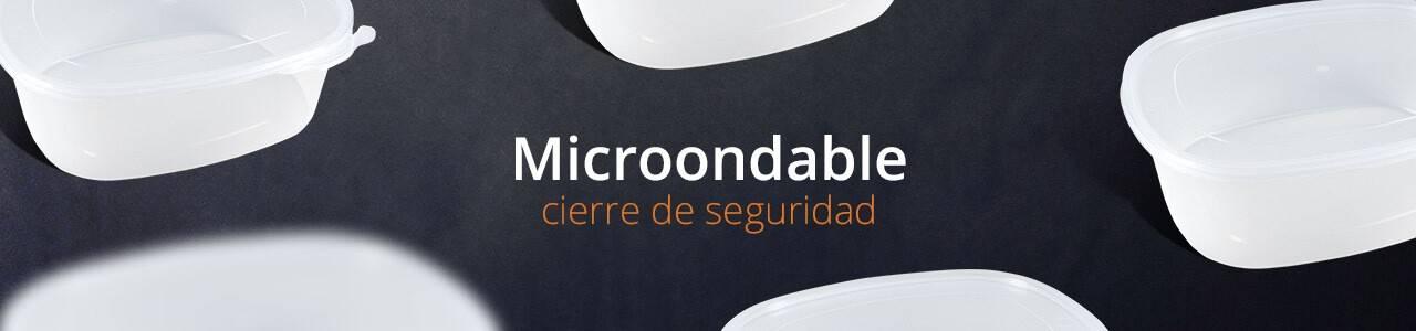 Envases para microondas con cierre de seguridad de polipropileno transparente