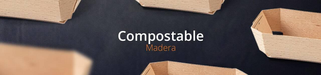 Envases de Madera Natural |Envases Take Away para Alimentación