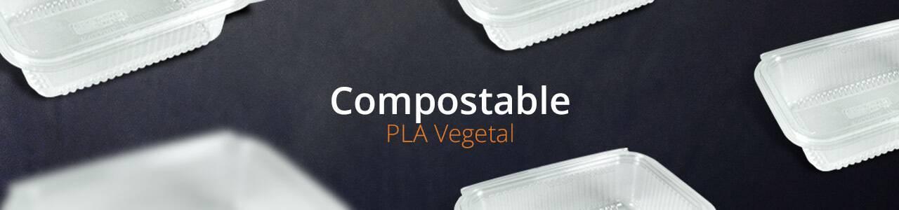 Envases de PLA Vegetal para uso frío | Envases Take Away para Alimentación
