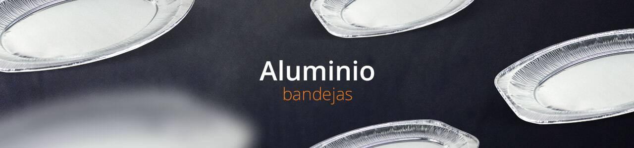 Bandejas Desechables de Aluminio aptas para el sector alimentario.