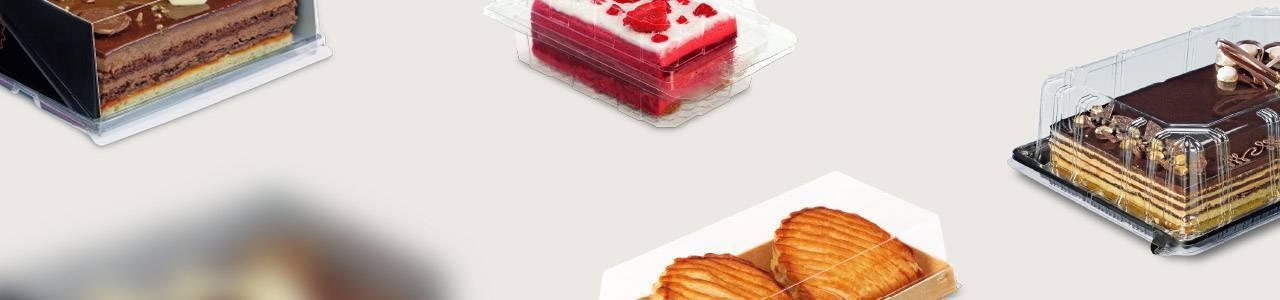 Envases para Pastelería y Repostería Rectangulares | Envases Take Away para Alimentación