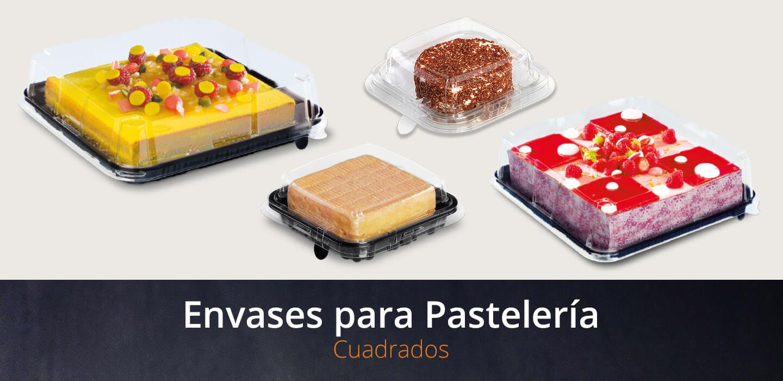 envases de pastelería cuadrados