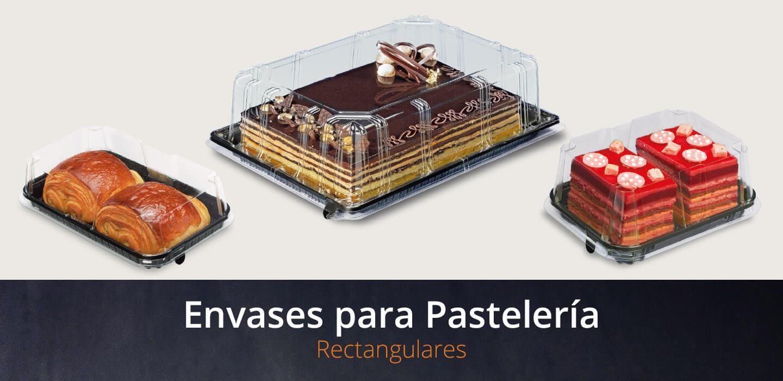 Envases para pastelería rectangulares
