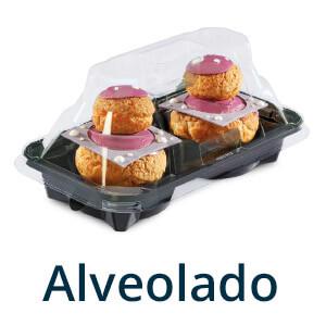 Envases pastelería alveolado